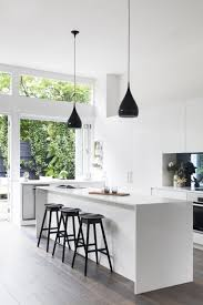 premium kitchen or bar faucet black and white kitchen with marble