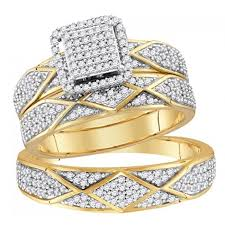 wedding ring trio sets his and rings set trio set