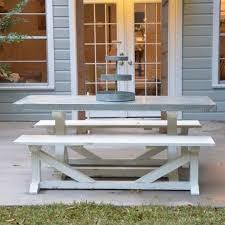 Farmhouse Patio Table by The 25 Best Farmhouse Outdoor Dining Tables Ideas On Pinterest