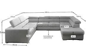 canap forme u convertible lit en forme de u avec une méridienne à gauche ou