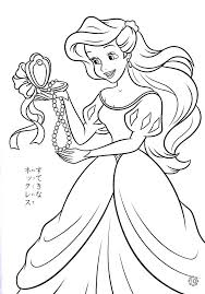 Mermaid Princess Coloring Pages Mermaid Princess Fairy Coloring Ariel Color Page