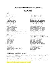 school calendar rockcastle county schools