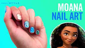 moana nail art tips disney style disney video