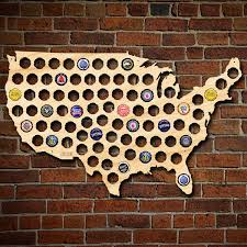 Wall Map Of Usa by Beer Cap Map Of Usa Large