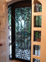 Wrought Iron Home Decor Wrought Iron Storm Doors Home Interior Design