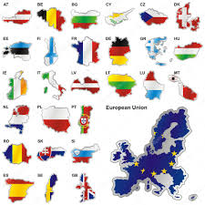 European Union Map Flags Of Eu In Map Shapes U2014 Stock Vector Pilgrimartworks 3009108