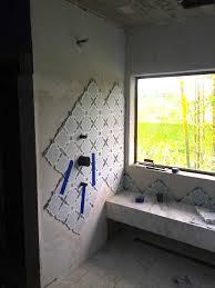 Installing Wall Tile A Modern Moroccan Bathroom Tile Installation