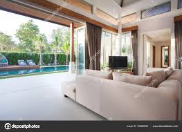 in livingroom luxury interior design in livingroom of pool villas airy and