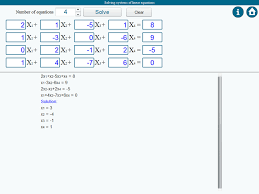 system solver and calculator for solving systems of linear equations image 1