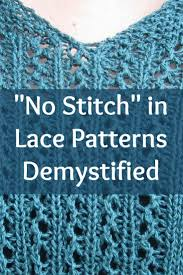 what does pattern mean lace knitting patterns what does no stitch mean lace knitting