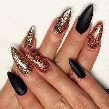 black and rose gold acrylics nails pinterest acrylics rose