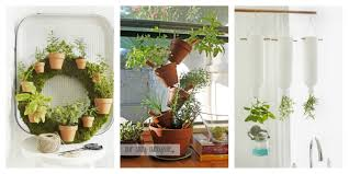 modern white pots for salad and herbs hydroponic kitchen garden