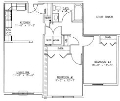two bedroom layout plan