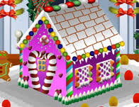 decorate gingerbread house cooking