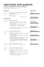warehouse associate resume samples visualcv resume samples database