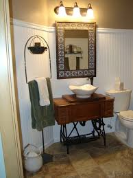 Primitive Bathroom Ideas by Craftisuzi New Used For Grandma U0027s Old Treadle Sewing Machine