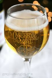 diy glass etched christmas goblets