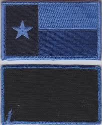 Texas State Flag Texas Tx State Flag Patch Blue Version With Velcro Hook Fastener
