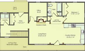 house plan with basement 15 surprisingly one floor house plans with walkout basement
