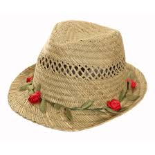 flower band straw hat with pretty garland flower band