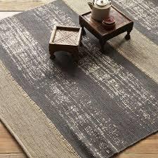 stripe printed jute rug soot west elm