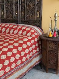 moroccan king bedspread india inspired king bedspread red orange