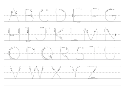 pictures on alphabet tracing worksheets printable wedding ideas