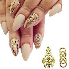 aliexpress buy new arrival 10pcs silver gold 10pcs alloy nail gold 3d nails decorations new arrive