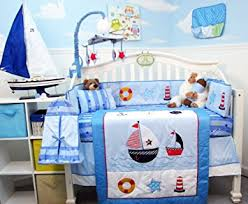 Soho Crib Bedding Set Soho Ship Ahoy Baby Crib Nursery Bedding Set 14 Pcs