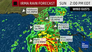 Florida Weather Radar Map by Irma Florida Forecast No Good News The Weather Channel