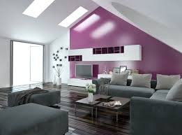 Purple Bedroom Accent Wall - how a bright accent wall can add depth and presence to rooms in