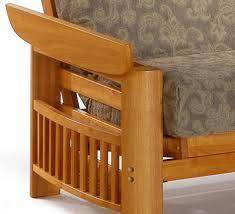 solid wood futon frame portofino sofa bed futon frame solid hardwood