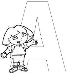 dora explorer coloring alphabet alphabets