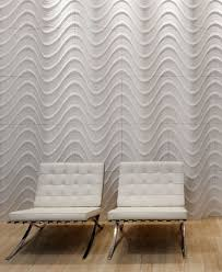 decorative wall panels for basement with two white chair accents