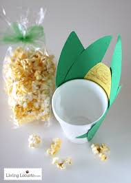 popcorn corn on the cob snack thanksgiving craft