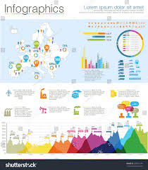 detail infographic vector illustration map europe stock vector
