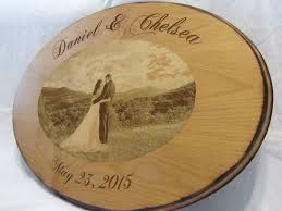 alternative to wedding guest book guest book alternative custom wood sign with engraved photo
