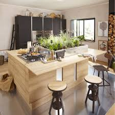 cuisine roi merlin meuble de cuisine décor chêne blanchi delinia graphic leroy merlin