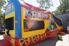 mickey mouse clubhouse bounce house mickey s choo choo express houston sky high party rentals