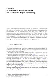 mathematical transforms used for multimedia signal processing