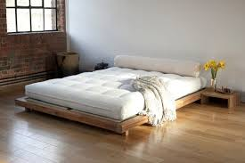 Bed Frame Styles Wood Low Profile Japan Style Bed Frame And Side Tables In Simple