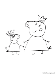 coloring peppa u0027s pig family coloring pages