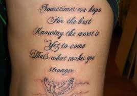 quotes for symbols tattoos and arm