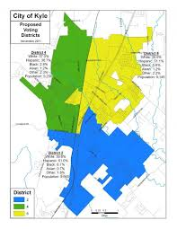 kyle map kyle city council approves redistricting map city of kyle