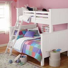 Girls Bunk Bed Possible Idea For The Girls Bunk Bed Put A Queen - Girls white bunk beds