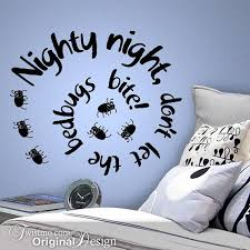Dont Let The Bed Bugs Bite Kids Wall Decal Nighty Night Don U0027t Let The Bedbugs Bite