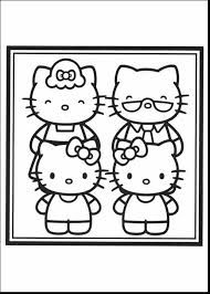 good hello kitty family coloring page with labor day coloring