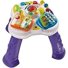sit to stand activity table amazon com vtech sit to stand learn discover table this baby