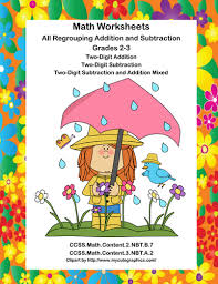 math worksheets all regrouping addition and subtraction grades 2 3