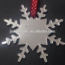 silver mirror snowflake acrylic decoration tree